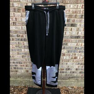 Lounge pants white stripe and black drawstring